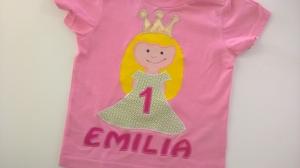 Geburtstagsshirt Prinzessin
