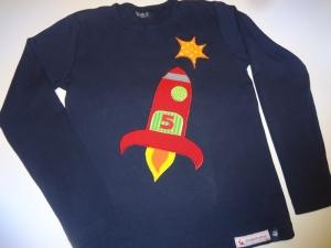 Geburtstagsshirt Rakete