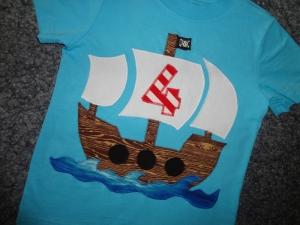 Geburtstagsshirt Piratenschiff