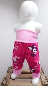 Pumphose Gr. 56 - Hafenkitz beere mit rosa ★ Einzelstück ★ (Babyhose, Mitwachshose)