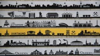10m Webband Skyline (1,49€/m) 23 Städte zur Auswahl, Sylt, Köln, Berlin, Gelsenkirchen, Frankfurt, Hannover, Berlin, München, Ostsee, Nordsee, Münster, Dortmund