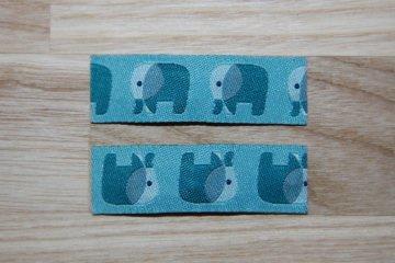 Haarspangenset 2 Stück Haarspangen Elefanten blau