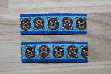 Haarspangenset 2 Stück Haarspangen Bär blau