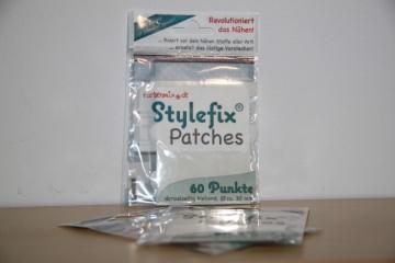 60 Stylefix-Patches von Farbenmix, doppelseitige Klebepunkte, Kreis Durchmesser 3 cm