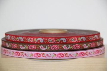 1m Webband Paisley aus drei Farben