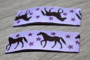 Haarspangenset 2 Stück Haarspangen Pferd, Pferde lila