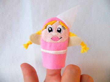 Fingerpuppe Prinzessin - Handarbeit kaufen