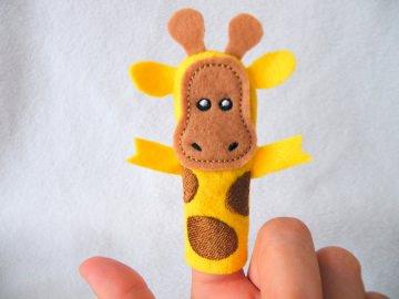Fingerpuppe Giraffe - Handarbeit kaufen
