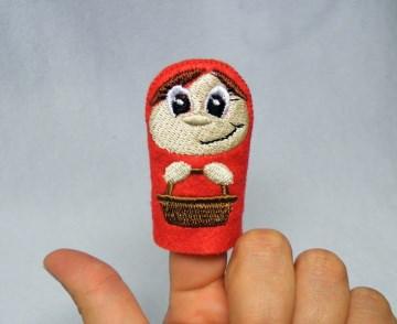 Fingerpuppe Rotkäppchen - Handarbeit kaufen