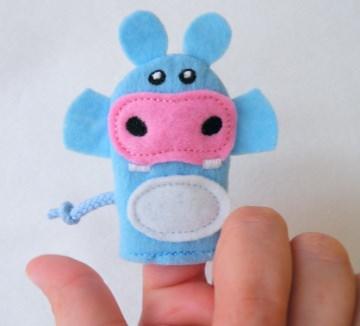 Fingerpuppe Hippo Nilpferd