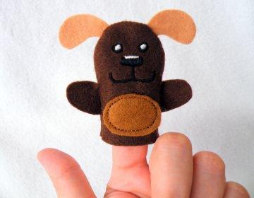 Fingerpuppe Hund