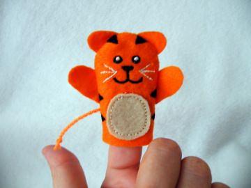 Fingerpuppe Tiger - Handarbeit kaufen