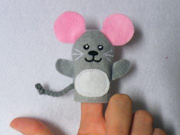 Fingerpuppe Maus - Handarbeit kaufen