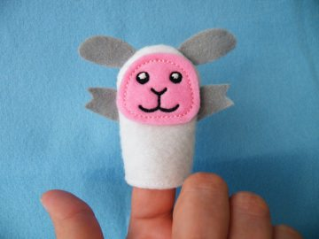 Fingerpuppe Schaf - Handarbeit kaufen
