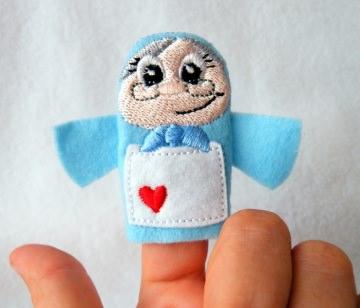 Fingerpuppe Rotkäppchens Großmutter - Handarbeit kaufen