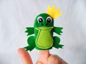 Fingerpuppe Froschkönig - Handarbeit kaufen