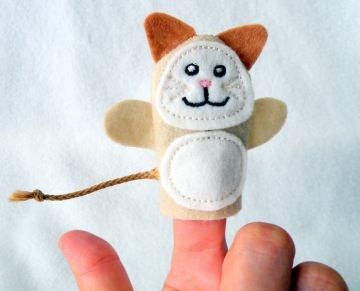 Fingerpuppe Katze