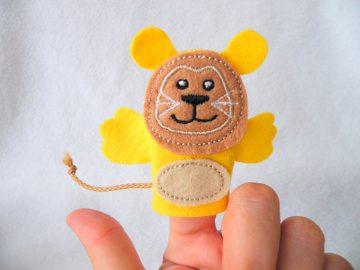 Fingerpuppe Löwe - Handarbeit kaufen