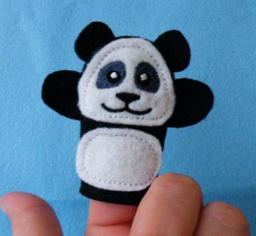 Fingerpuppe Panda - Handarbeit kaufen