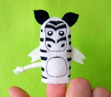 Fingerpuppe Zebra