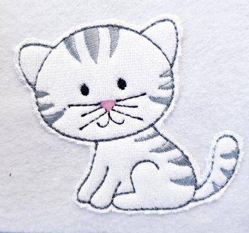 Applikation Aufnäher Kätzchen - Handarbeit kaufen