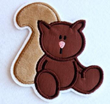 Applikation Eichhörnchen - Handarbeit kaufen