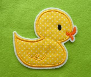 Applikation Aufnäher Ente