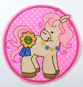 Applikation Aufnäher Pony
