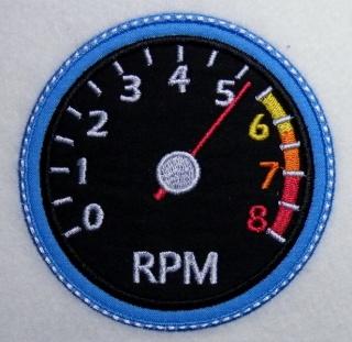 Applikation Rennwagen Tachometer - Handarbeit kaufen