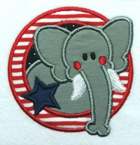 Applikation Aufnäher Elefant klein
