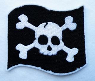 gestickter Aufnäher Pirat Scull