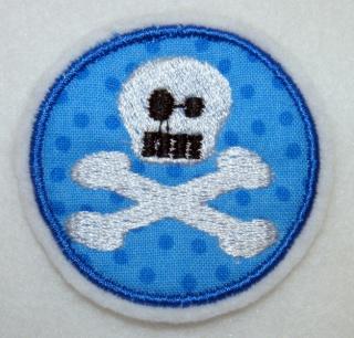 Pirat Aufnäher Totenkopf Skull