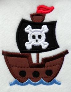 Applikation Aufnäher Piratenschiff - Handarbeit kaufen