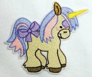 gestickter Aufnäher Pony Pferd Einhorn - Handarbeit kaufen