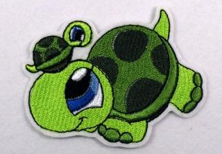 Stickerei Schildkröte mit Baby