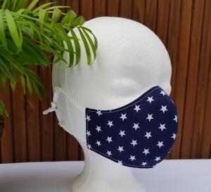 Mund Nasen Maske für Kinder 7-12 Jahre mit verstellbarem Gummiband - Handarbeit kaufen
