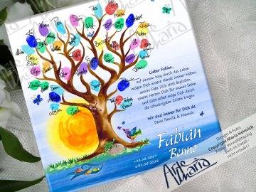 Fingerprint Taufbaum FABIAN© Taufgeschenk Gästebuch Kinderzimmer Bild Tauf-Tree