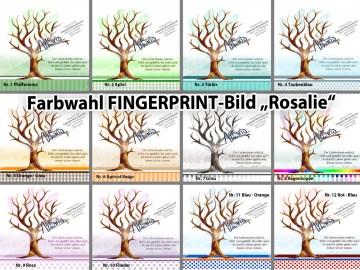 Fingerprint Taufbaum ROSALIE FARBWAHL© Taufgeschenk Gästebuch Kinderzimmer Bild Tauf-Tree  (Kopie id: 34779)