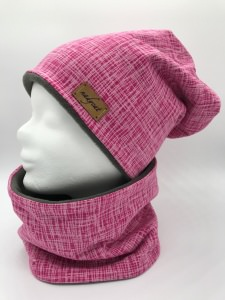 PINK STRIPES Beanie mit passendem Loop