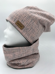 ROSE STRIPES Beanie mit passendem Loop