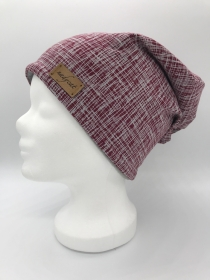 BURGUND STRIPES Beanie, Winter Mütze