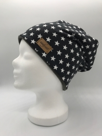 DARKGREY & LITTLE STARS Beanie, Winter Mütze