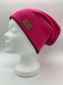 PINK UNI Beanie, Winter Mütze, Übergangs Mütze