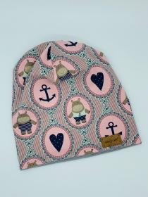NILPFERD ROSA Beanie, Winter Mütze, Übergangs Mütze, Frühlings Mütze