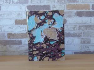 Tagebuch A5 - Marmor türkis-gold // Blankobuch // Notizbuch // Geschenk - Handarbeit kaufen