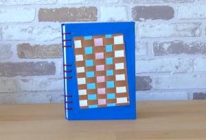 Notizbuch DIN A6 - Webbild blau // Blankobuch // Geschenk // Erinnerungen // Freundschaft - Handarbeit kaufen