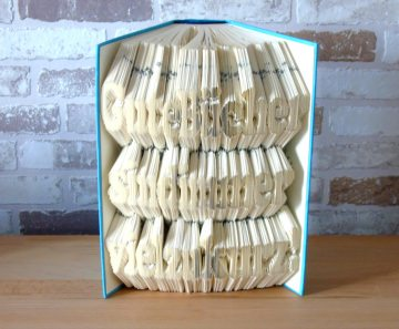 gefaltetes Buch - Gute Bücher sind immer viel zu kurz // Buchkunst // Bookfolding // Geschenk // Spruch // Dekoration - Handarbeit kaufen