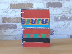 Notizbuch A6 Ethno rot blau // Tagebuch // Geschenk // Eintragungen - Handarbeit kaufen