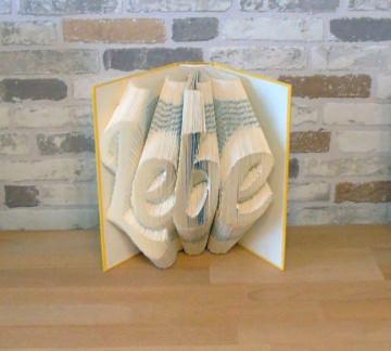 gefaltetes Buch - Lebe // Buchkunst // Bookfolding // Geschenk // Dekoration - Handarbeit kaufen