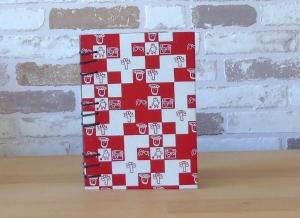 Notizbuch A6 Mosaik rotweiß // blanko // Tagebuch // Geschenk // Erinnerungen // Wichteln - Handarbeit kaufen